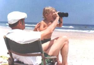 Grandpa & Toby with binoculars